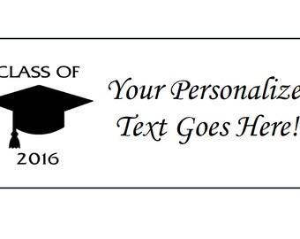 Personalized Class of 2016 Graduation Return Address Labels & Envelope Seals Lot