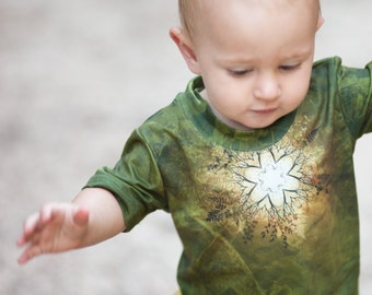 New! SPRING MANDALA Kids Tshirt, Kids hippy top,  sacred geometry tshirt, kids tshirts, alternative kids, baby tee, boys tshirt