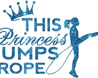 This Princess Jumps Rope Iron On Decal