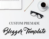 Custom Blogger Package / Affordable Blogger Template / Premade Blogger Template Package