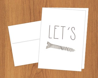 Let's Screw - Funny Love Cards - 4bar