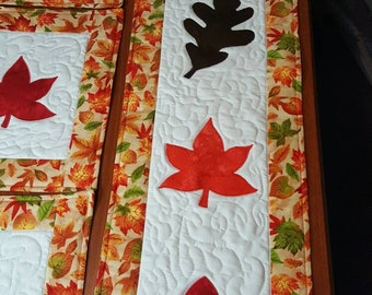 Autumn Inspirations Quilted Table Runner and Placements