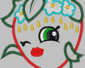 Embroidery Design Digitized Strawberry Applique 4 x 4