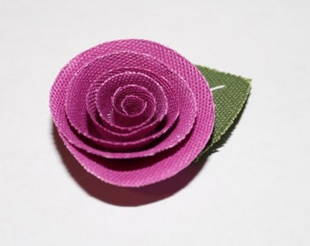 Plum Purple Flower Men's Lapel Pin - Wedding / Formals / Everyday