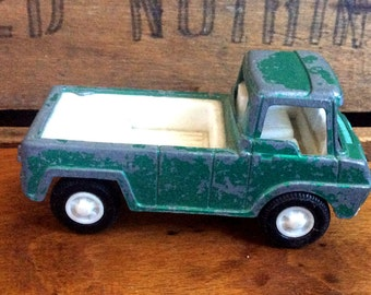 Vintage Antique Estate 1969 Tootsitoy Tootsie Toy Pick Up Truck Green