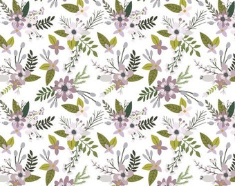 Crib Sheet - Lavender Sprigs and Blooms
