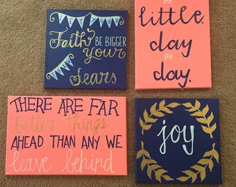 Set of 4 or single item canvases
