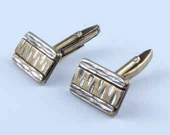 Cufflinks - Gold on Silver
