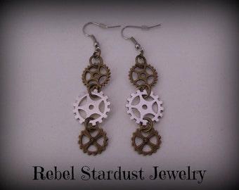 Steampunk gear earrings #3
