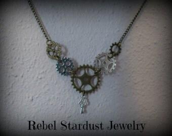 Steampunk gear necklace #2