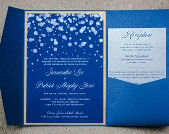 Pocket Fold Winter Wedding Invitation
