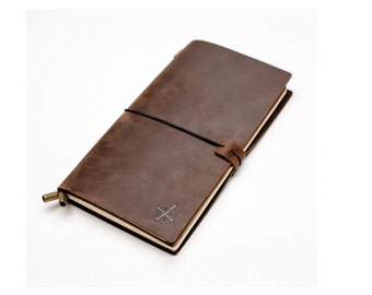 Leather Notebook Journal Refillable book Writing Gifts Fountain Pen Sketching Professional Diary Classic Vintage Style Travel