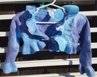 TIE DYE shrug SWEATER 12-18 months cover up