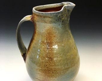Wood Fired Porcelain Pitcher - Shino Glaze, 0515001
