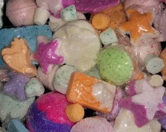 8 lb Box of Bath Bombs! Huge Surprise Bulk Lot - 8 Pounds of Assorted Bath Bombs - Surprise Box Mystery Mix - Bath Bomb Sale, Bath Fizzy