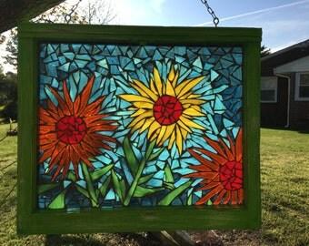 Mosaic stained glass suncatcher