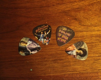 4 Bill and Ted's Excellent Adventure GUITAR PICKS, Custom Guitar Pick, Custom Guitar Picks, Personalized Guitar Pick