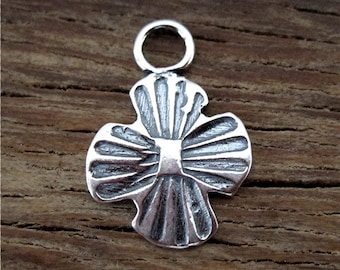 Artisan Southwestern Style Stamped Cross in Sterling Silver (one) (C) (A)