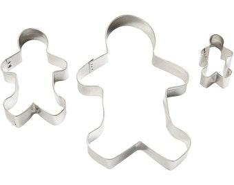 Gingerbread Man Cookie Cutters 3 sizes