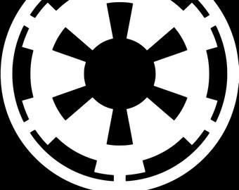 Star Wars Galactic Empire Sticker - Vinyl Decal - Car, Window, Laptop Decor
