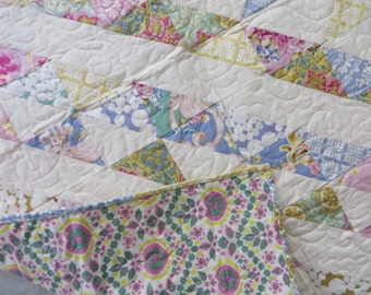 "Sis Boom Quilt ! Measures 40 by 67"" Perfect Mother's Day Baby Gift Idea !"