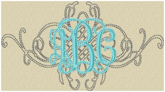 Machine embroidery design filigree in by