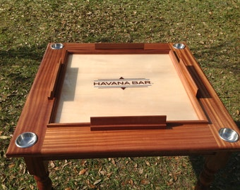 Solid Mahogany Domino Table
