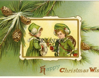 Christmas Wishes Vintage Christmas Image graphic download