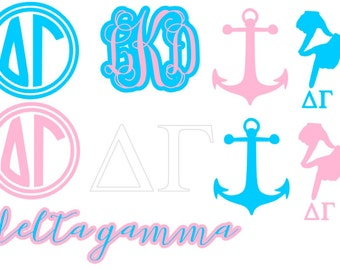 Delta Gamma Sorority Decal Pack