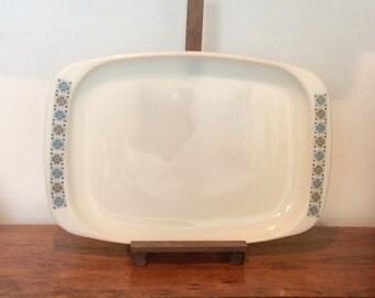 Large Pyrex Serving Plate, 'Chelsea' Pattern Pyrex Meat Platter Dish