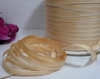 """10 yd /9 meters Light Tan / Light Brown) Yellow Ombre Grosgrain Ribbon 3/16"""" 5mm width best for hanger loop, wrapping, invitation card L435"""