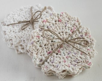 Crocheted Doily Coasters