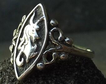 Sterling Li'l Unicorn Ring