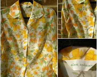 Amazing 1970s Alex Colman Long Sleeve Button Up