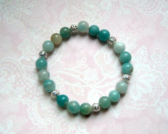 Bracelet in Amazonite gemstone