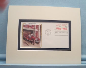 The American Firemen and the Fire Engine & First Day Cover of the Fire Engine stamp