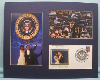 Barack and Michele Obama Celebrate Inauguration Day and Special Inauguration Cover