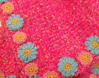 Pretty pink flowery girlie blankie