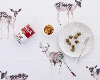 Laminated Elk(Moose) Pattern Cotton Fabric by Yard