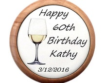 Personalized 60th wine stopper. 60th birthday gift for women. 60th birthday idea. 60 th birthday. 60 birthday gift for her