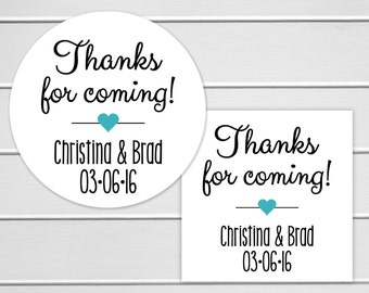 Thank You Stickers, Thank You For Coming Labels, Favor Stickers, Birthday Party Stickers (#211)