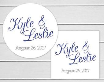 CustomWedding Stickers, Names and Date Wedding Sticker, Wedding Stickers, Wedding labels (#142)