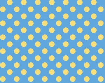 45'' Maywood Studios Little Ones Flannel Blue with Yellow Dots by the Yard MASF 8227-BS