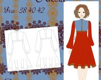Byzantium Dress pattern Size 38/40/42 Spanish English PDF