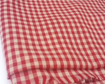 Light Weight Cotton Gingham Plaid Fabric (2 Yards)
