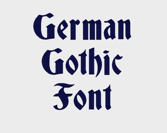 "German Gothic Embroidery Machine Font in 4 sizes (0.5"", 1"", 2"" & 3"") upper and lower case + numbers - INSTANT DOWNLOAD -  Item # 1106"