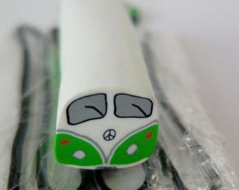 Fresh polymer clay bus /bulli cane green