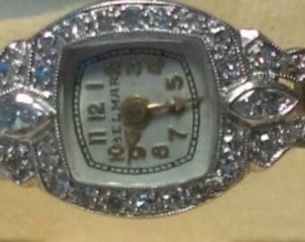 """1940'S Ladies PLATINUM """"Belmar"""" Diamond Watch"""