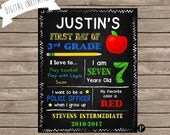 First Day of School Sign - 8x10 PDF Digital File
