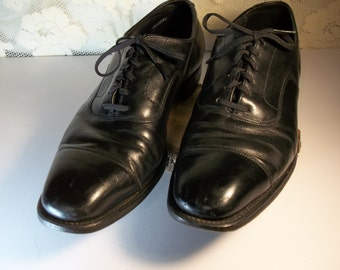 Mason Shoes - Men's - Oxford Black - Made in the USA - Union Made 1960's